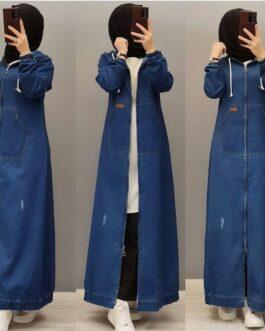 Damen lange Jeans Mantel